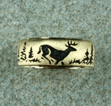 whitetail wedding ring